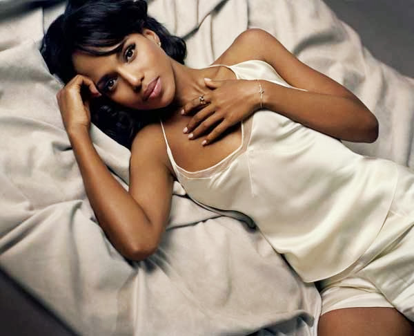 Kerry Washington, en la cama