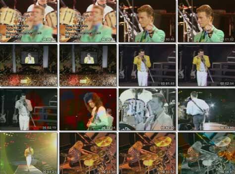 Queen y David Bowie con Under pressure