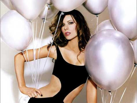 Kate Beckinsale, con globos